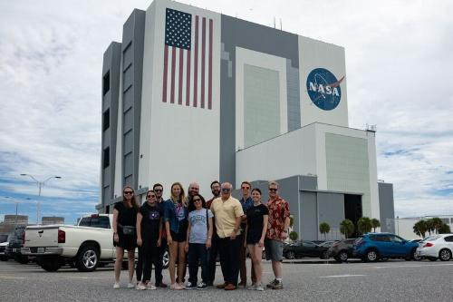 CSE class visiting NASA's Vertical Assembly Building