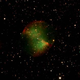 August 2009. M27 - The Dumbell Nebula. Credit: Matt Bourque and Andrew Colson.