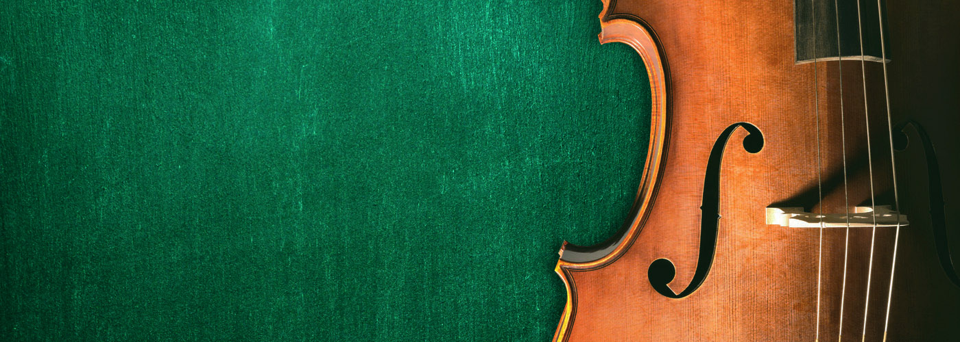 music program header - violin