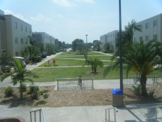 Outside view of Residence Hall Quad