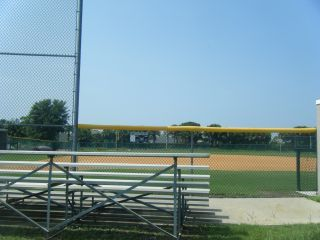 Softball field and bleachers