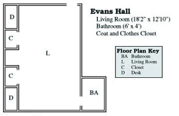 Evans Suite Floor Plan