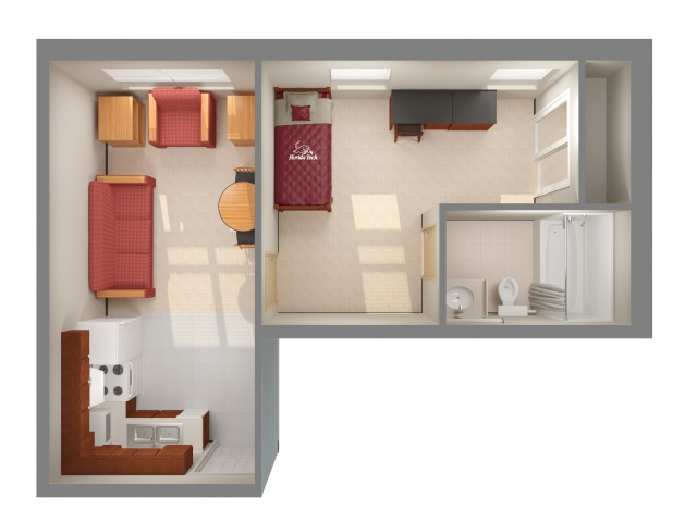 Harris Village - 1 bedroom 2