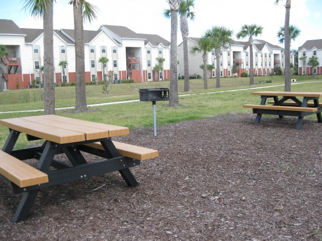 Picnic Tables and Barbecue Grill Area