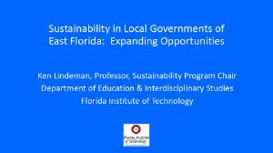 Florida Sustainability Slide