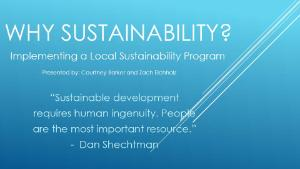Why Sustainability Slide