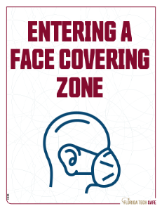 Entering a face covering zone