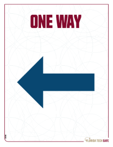 One Way - Left Sign