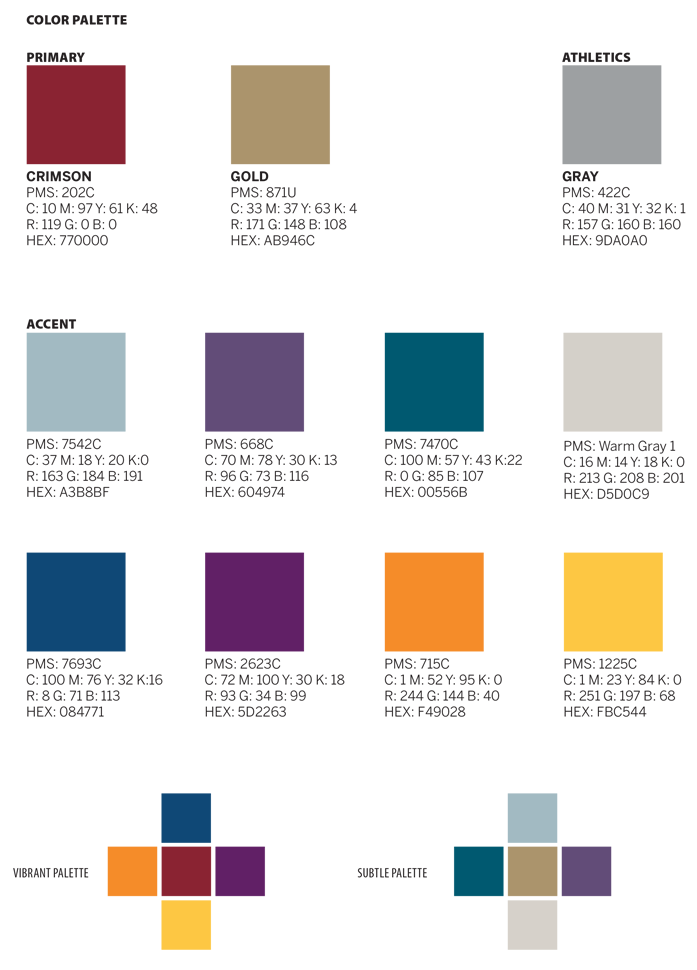 Color Palette and Typography | Florida Tech